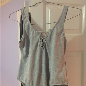Heather gray H&M bodysuit size L